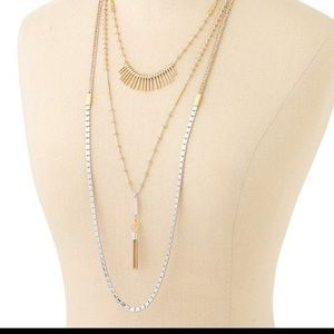 Stella and Dot 3 Layer Necklace
